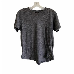 SouthPole Gray Womens Short Sleeve Top Size M